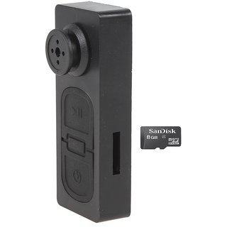 Spy Guru Spy Button Camera With 8gb Micro Sd Card