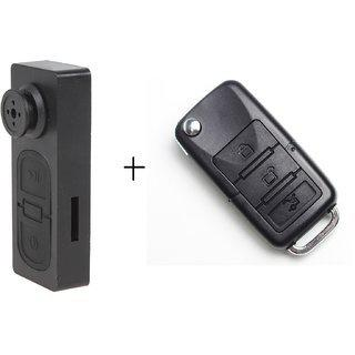 Spy Guru Combo Of Spy Button And Bmw Car Key Cameras