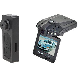 Spy Guru Combo Of Spy Button And Car Dvr Cameras