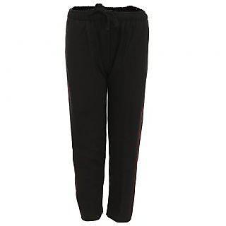 Haig-dot Black Open Bottom Track Pant For Girls