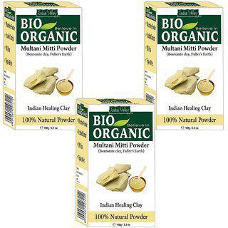 Indus Valley Bio Organic Multani Mitti Powder - Triple Pack