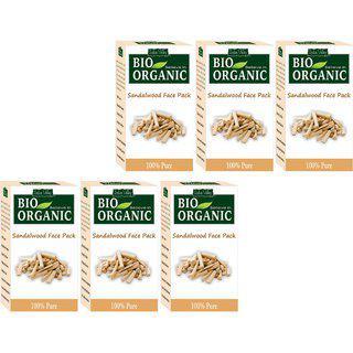 Indus Valley Bio Organic Sandalwood Face Pack Powder - Pack Of 6