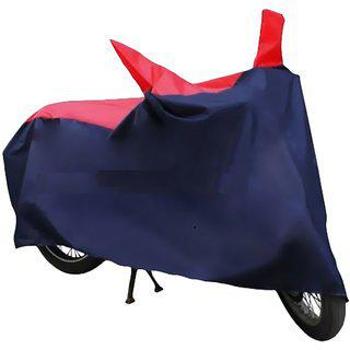 Ct-100-red And Blue Bike Body Cover With Mirror Pockets-hms