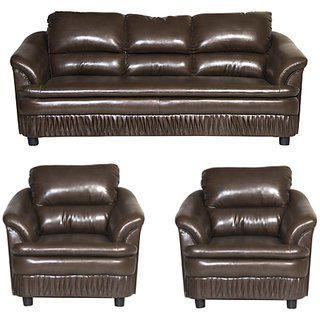 Gioteak Gayana Strip Brown 3 plus 1 plus 1 Sofa Set