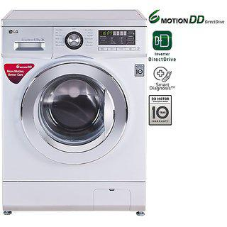 LG 65 kg Fully Automatic Front Load with Inbuilt Heater SilverFH096WDL24