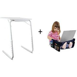Ibs Table Mate Adjustable Portable Folding Study Laptop Cupholder Kids White Snack Changing Table