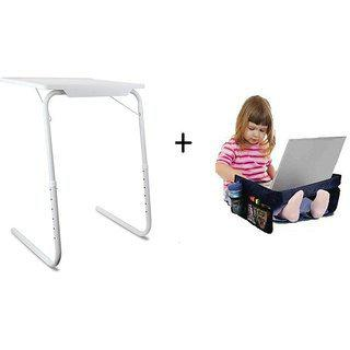 Ibs Table Mate Folding Study Laptopkids Adjustable Travel Snack Organiser Tray White Changing Table