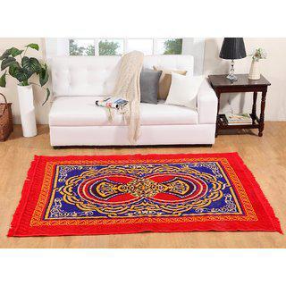 Welhouse India Multicolour Floral Print Carpet