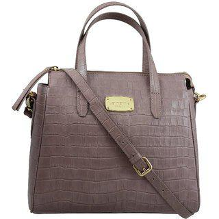 La Roma Women's Stylish Leather Purple Handbag