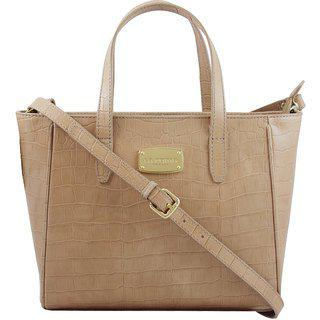 La Roma Women's Stylish Leather Taupe Casual Handbag ||Partywaer|| Marriage|| Wedding Handbag
