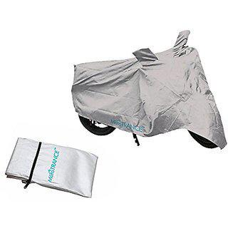 Autofurnish Universal Motorcycle Bike Body Cover With Mirror Pockets (silver)
