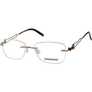 David Blake Brown Rimless Cat-eye Women Spectacle Frame