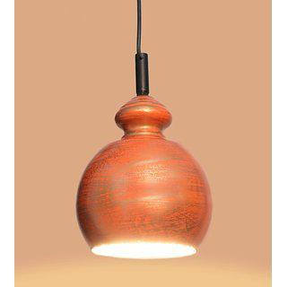 Ah Orange Shading Color Iron Pendant Ceiling Hanging Lamp ( Pack Of 1 )