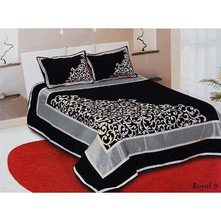 Volvo Chennile Double Bedsheet With 2 Pillow Covers.