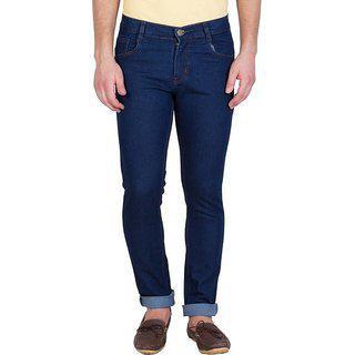 Stylox Men's Denim Regular Slim Fit Jeans (dark Blue, 28)