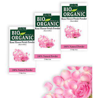 Indus Valley Natural Rose Petals Powder - Triple Pack