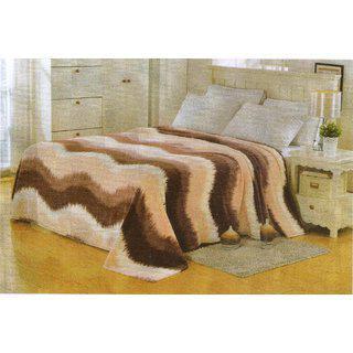Valtellina Waves Design Single Bed Blanket In Multicolor