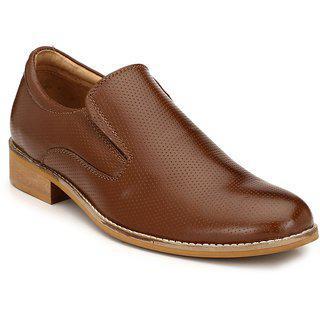 Hirel's Men's Brown Leather Formal Shoes-10 Uk/india (44.5 Eu) (hirel1524)