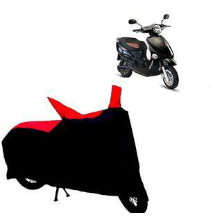 Autoage Two Wheeler Red plus black Cover For Hero Electric Bikes Electric Photon