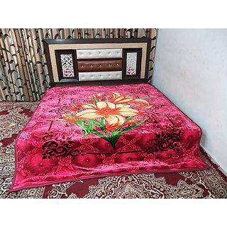 Peponi 6 Kg Floral Double Bed Mink Embossed Blanket - Multi