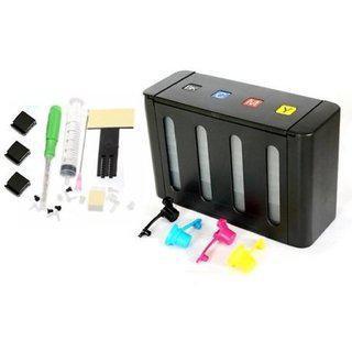 Green Empty Ciss For Pixma Mg3670 Multi-function Wireless Printer Multi Color Ink (magenta Black Cyan Yellow)