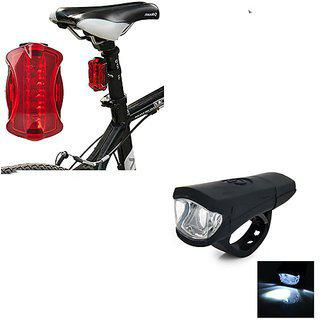 Buy 1 Get 1 Free High Quality Bicycle 8 Led Head Light And 5 Led Rear Tail Flashing Light With Clamp( Assorted Colors )