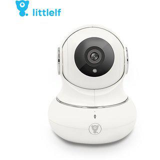 D3d Littlelf Wireless Ip Wifi Cctv Indoor Security Camera (support Upto 128 Gb Sd Card) (white Color) Model Lf-p1s