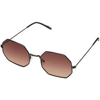 Fastrack M152br2 Rectangular Uv Protection Sunglasses Bronze / Brown