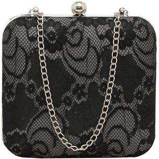 Tarusa Black Embroidered Clutch