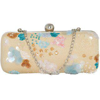 Tarusa Swede Clutch With Hand Embroidary For Women
