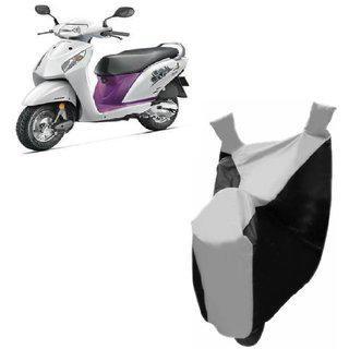Kaaz Premium Silver With Black Bike Body Cover For Honda Activa I