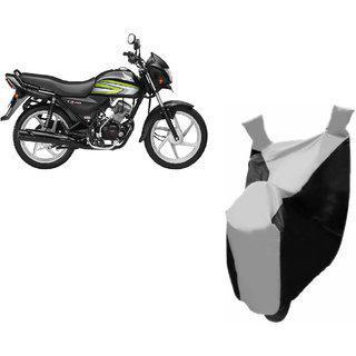 Kaaz Premium Silver With Black Bike Body Cover For Honda Cd 110 Dream