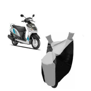 Kaaz Premium Silver With Black Bike Body Cover For Yamaha Alpha