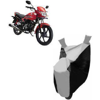 Kaaz Premium Silver With Black Bike Body Cover For Honda Dream Yuga