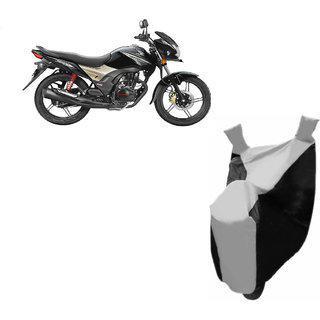 Kaaz Premium Silver With Black Bike Body Cover For Honda Cb Shine