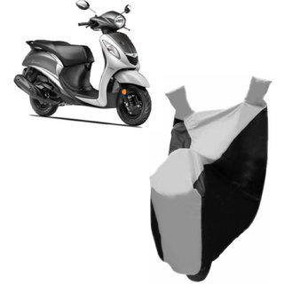 Kaaz Premium Silver With Black Bike Body Cover For Yamaha Fascino