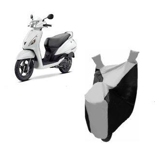 Autoage Premium Silver With Black Bike Body Cover For Tvs Jupiter