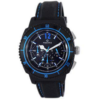 Maxima Hybrid Analog Black Dial Men's Watch - (36930ppgn)