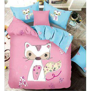Kuber Industries Double Bedsheet With 2 Pillow Covers King Size Exclusive Cartoon Print- Imported Fabric (kw03)