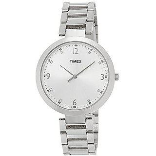 Timex Quartz Silver Round Women Watch Tw000x202