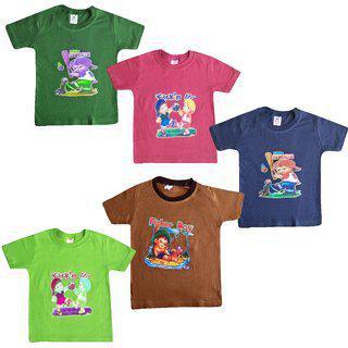 Jisha Fashion Round Neck Half Sleeves Tshirt For Boys(hmanis) ( Combo Of 5 ) 3months To 5 Years