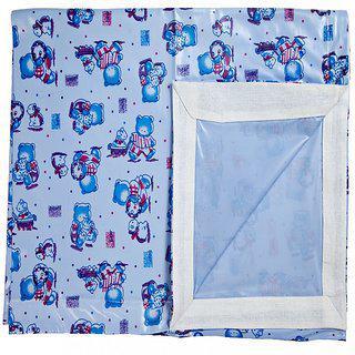 Love Baby Cotton Single Cartoon Bedsheet(Pack of 1, Blue)