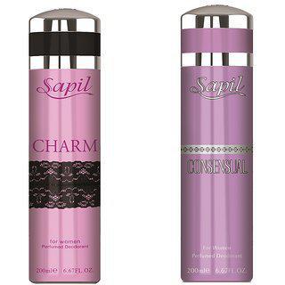 Sapil Deodorant Charm Consunsual Combo Set Of 2pcs