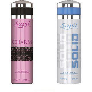 Sapil Deodorant Charm Solid Combo Set Of 2pcs