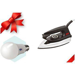 Blue Sapphire Light Weight With Led Bulb Free Dry Iron
