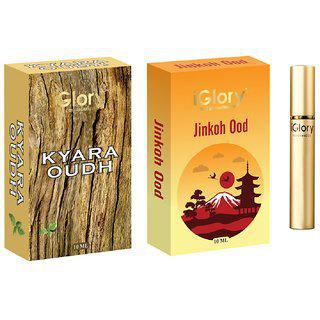 Best Oudh-attar Combo Long Lasting For Men And Women Alcohol Free - Kyara Oudh And Jinkoh Ood - 20ml