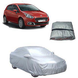 Trigcars Fiat Punto Car Body Cover Silver With Mirror Pockets