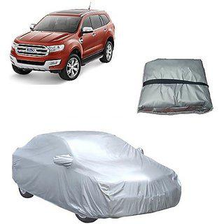 Trigcars Ford Endeavour New Car Body Cover Silver With Mirror Pockets