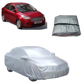 Trigcars Ford Figo Aspire Car Body Cover Silver With Mirror Pockets