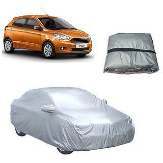 Trigcars Ford Figo New Car Body Cover Silver With Mirror Pockets